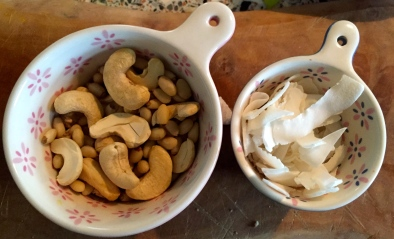 Cashew Nuts, Pine Nuts & Raw Coconut