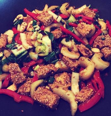 Sesame Tofu & Vegetables